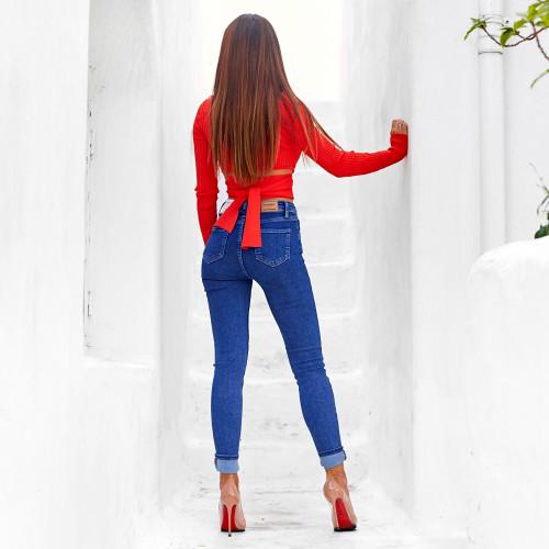 Облегающие джинсы с высокой посадкой 1514