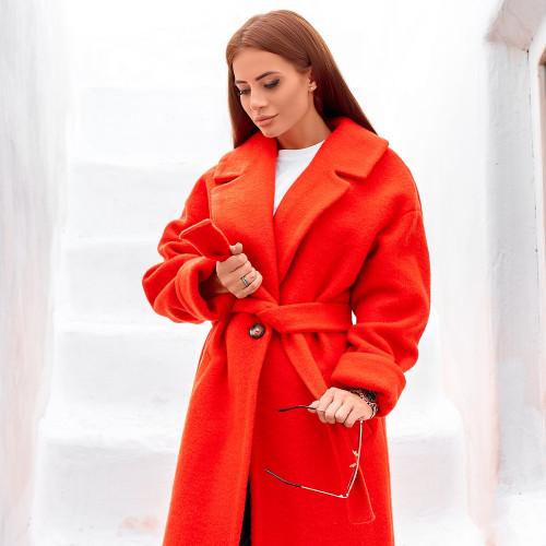 Осеннее пальто с поясом 11359
