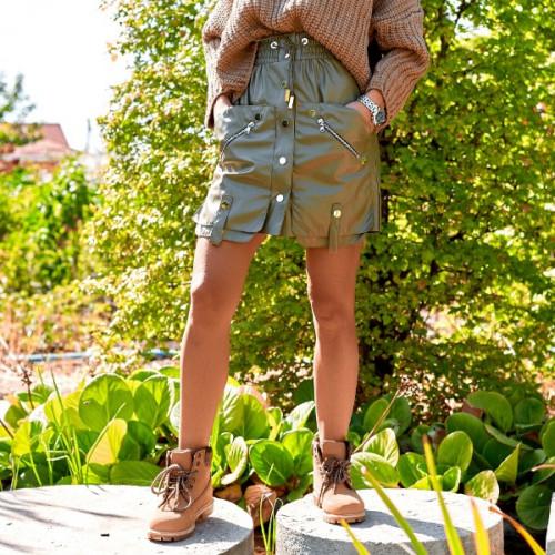 Необычная кожаная юбка 11211