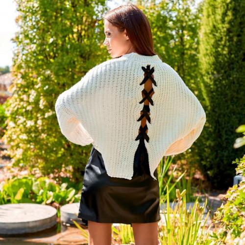 Вязанный свитер с завязками на спине 4294