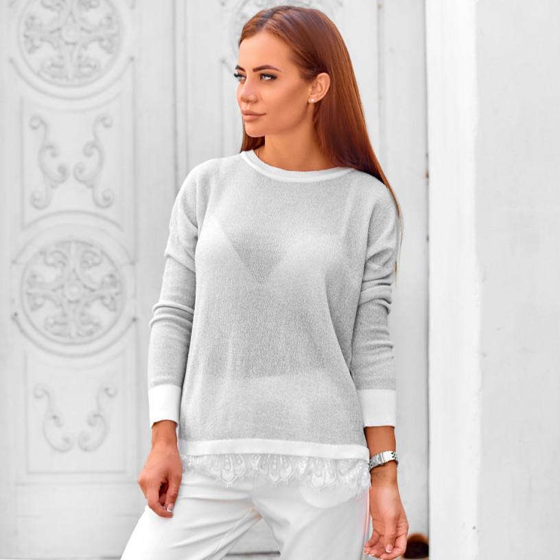 Тонкий светр з манжетами 1726
