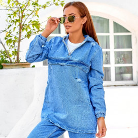 Куртка джинсовая с капюшоном 6913