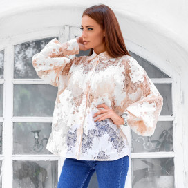 Кружевная блуза 11364