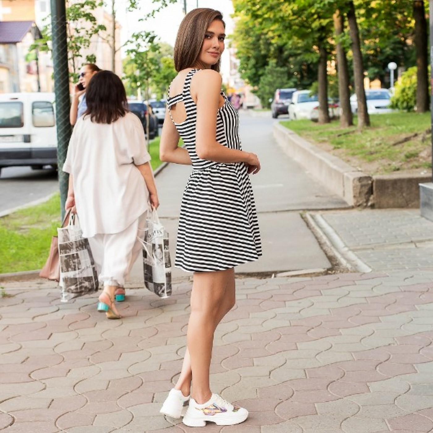 Літній смугасте плаття 1406