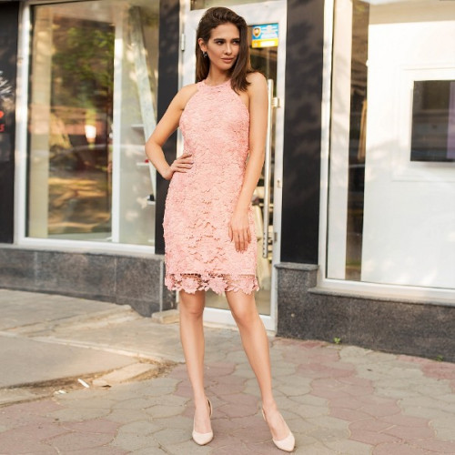 Платье смелое гипюровое 238-0