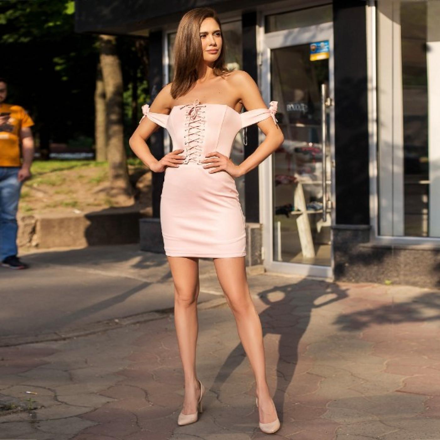 Платье соблазнительное со шнуровкой 311-0