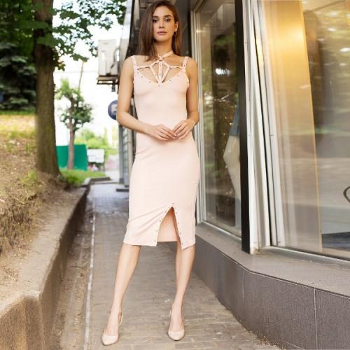 Лаконичное облегающее платье 50224