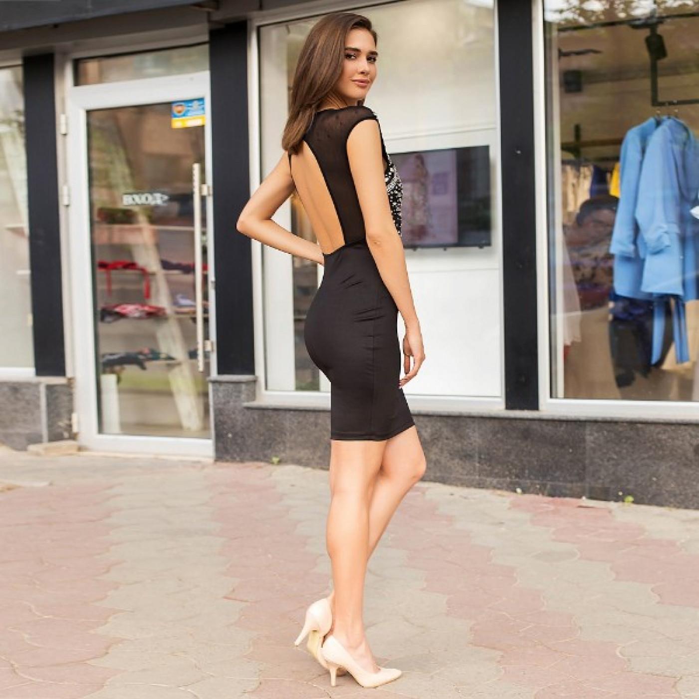 Оригинальное облегающее платье 50306