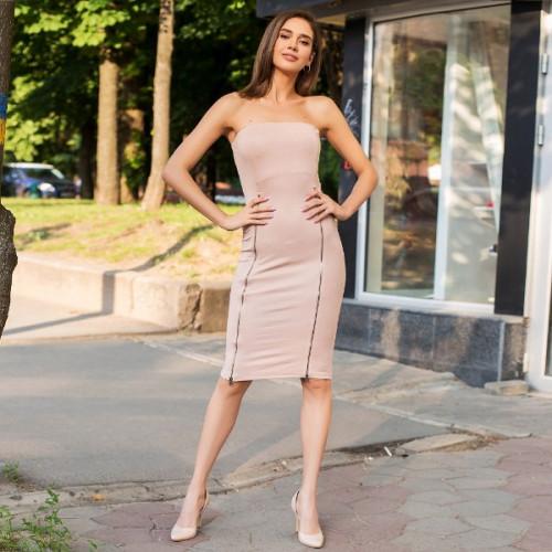Платье с разрезом на молнии 53196
