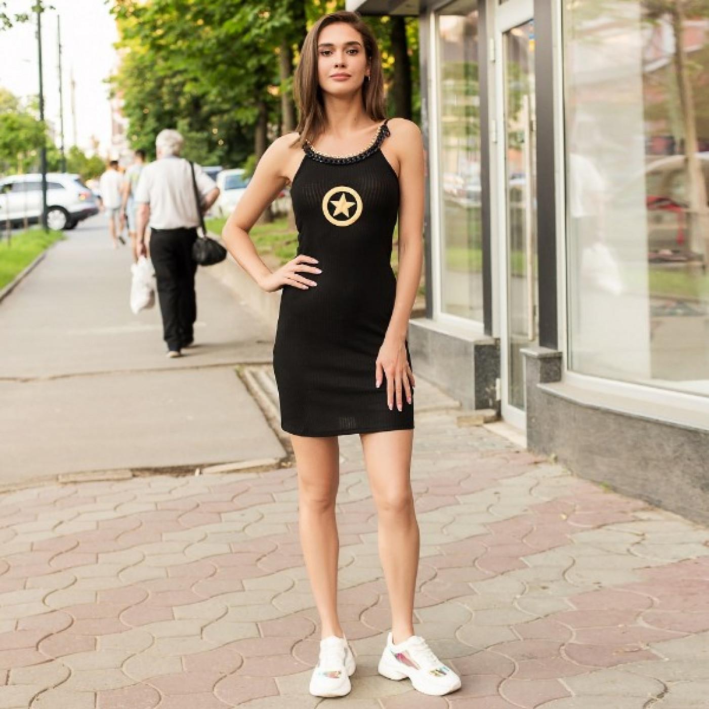 """Плаття чорне """""""" Зірка """""""" 6867"""