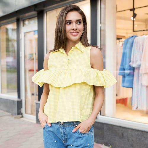 Блуза с воланом 10535