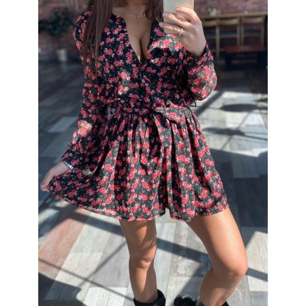 Платье-комбинезон мини 11527