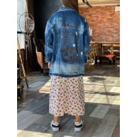 Джинсовая куртка с надписями 2470-0