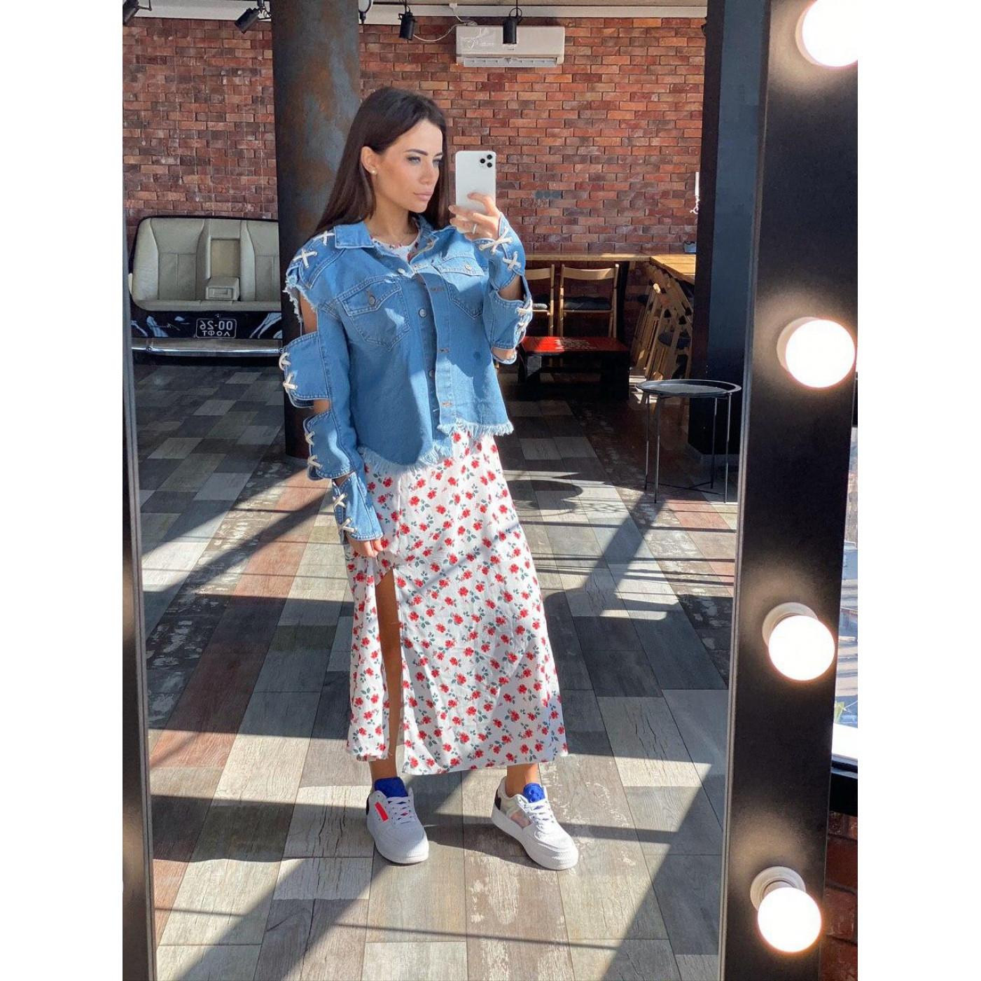 Модна джинсова куртка 7211-0