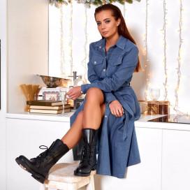 Платье-рубашка джинс удлиненная 11664