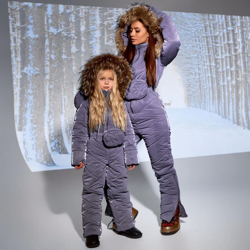 Дитячий зимовий комбінезон з натуральним хутром 11696