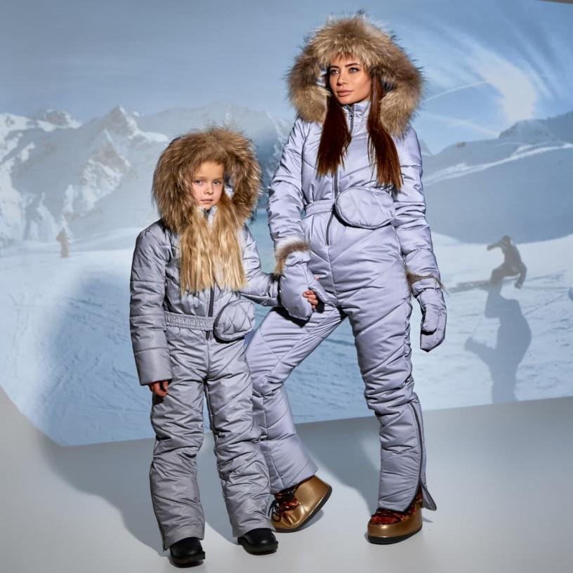 Дитячий зимовий комбінезон світловідбиваючий 11695