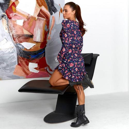 Платье мини в цветочном принте 11714