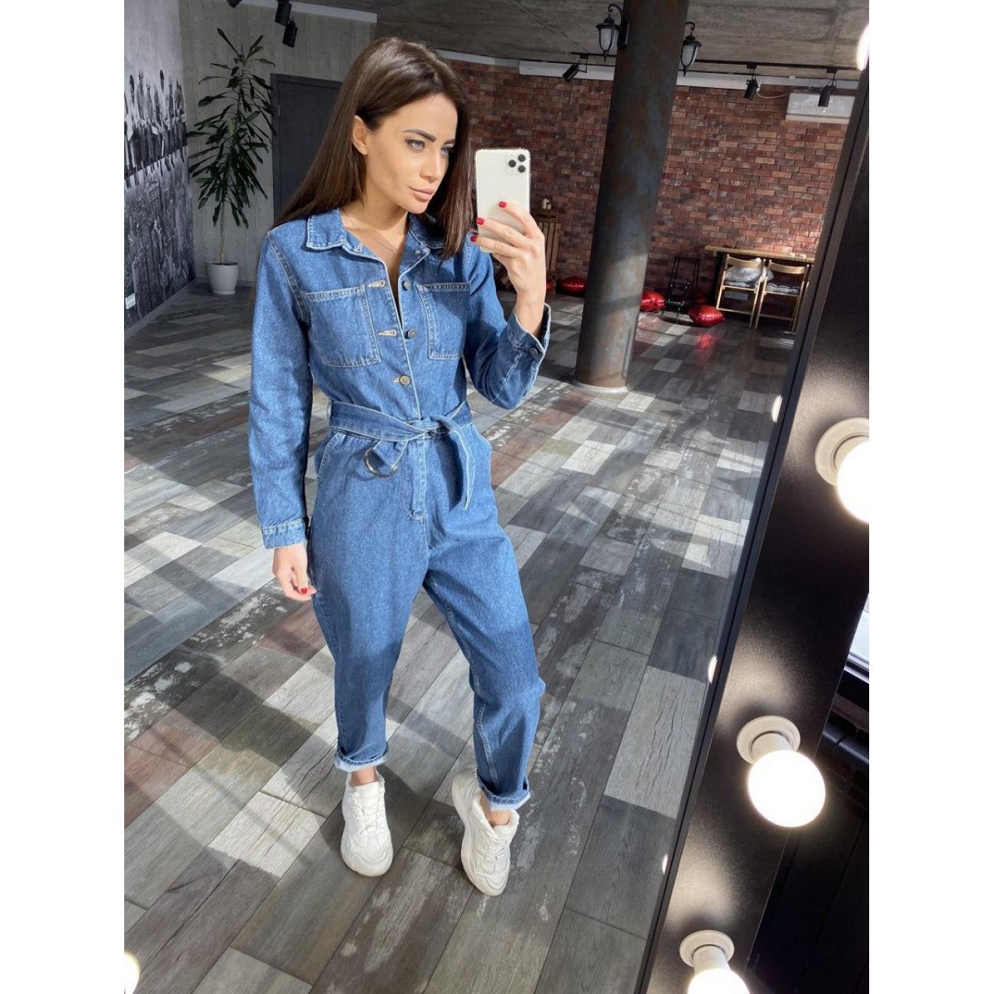 Стильный джинсовый комбинезон 24461