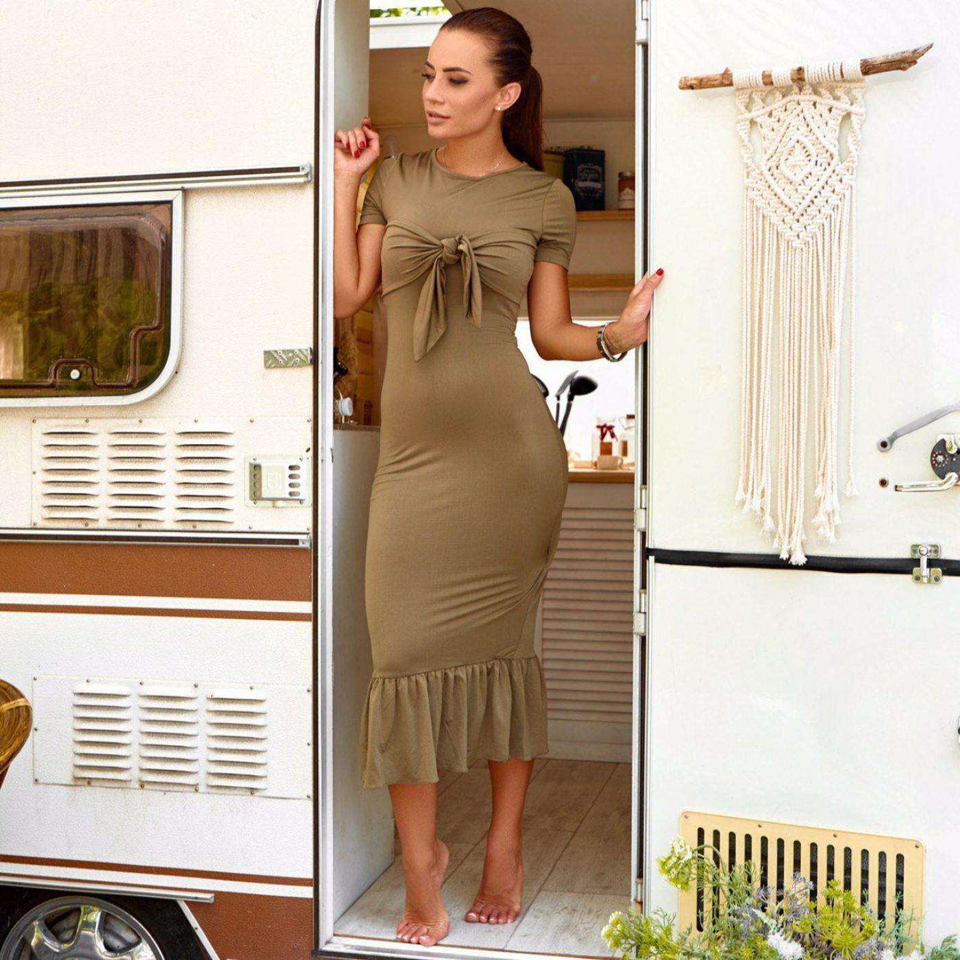 Платье с оборкой 42615