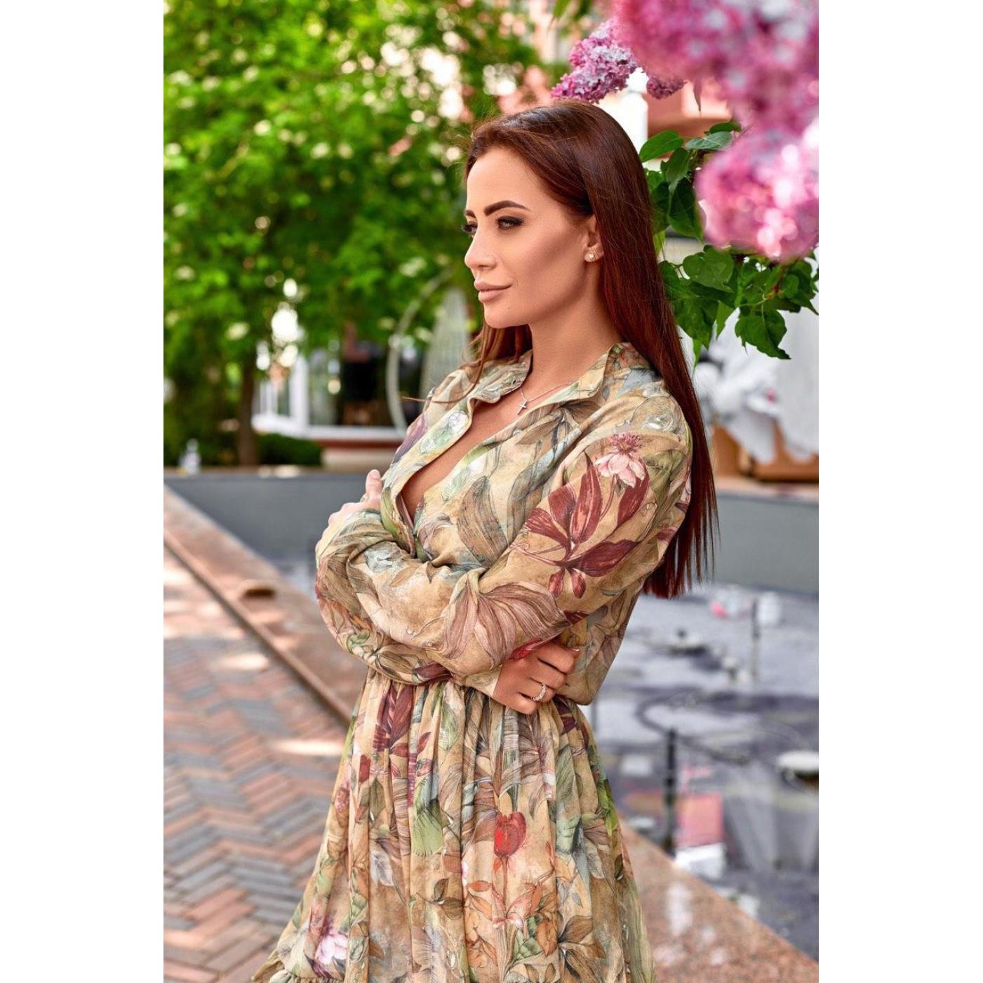Весеннее платье с принтом 11520