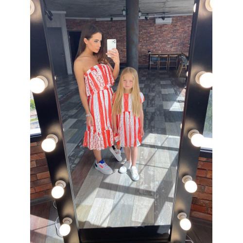 Летнее гипюровое платье-бюстье 11571
