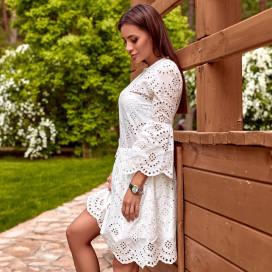 Платье из прошвы белое 31726