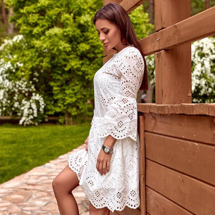Сукня з прошви біле 31726