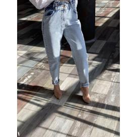 """Светлые джинсы """"МОМ"""" 1601"""