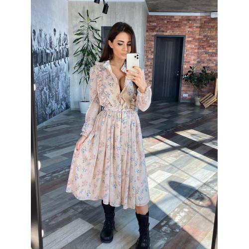 Легкое шифоновое платье 11501