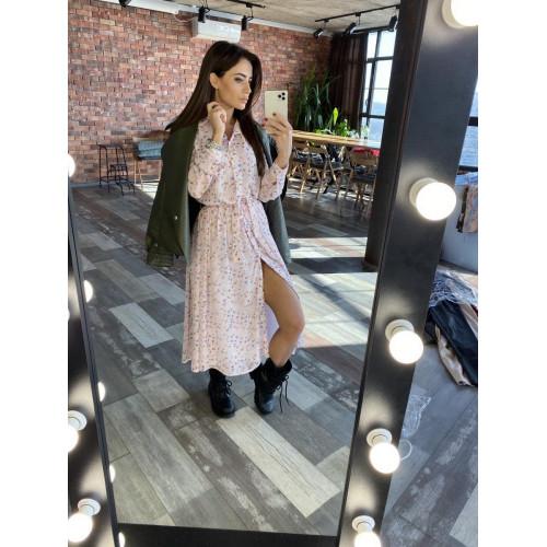 Легкое шифоновое платье 11504