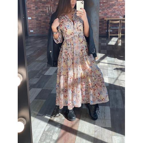 Удлиненное весеннее платье 24902