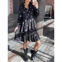 Платье с легким принтом 6980