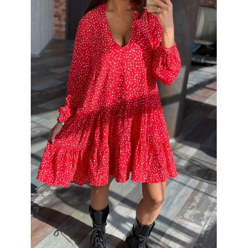 Легкое платье с принтом 3169