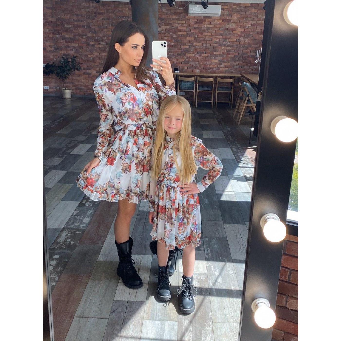 Дитяче плаття сорочкового крою в кольорах 11568