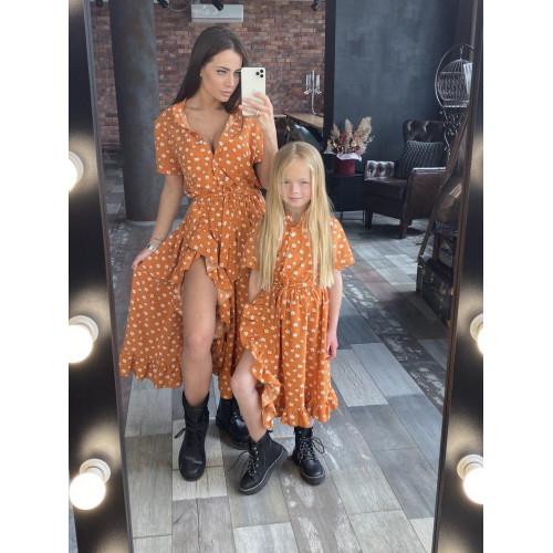 Детское платье с рюшами 11561