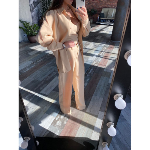 Классический костюм с широкими брюками 11662