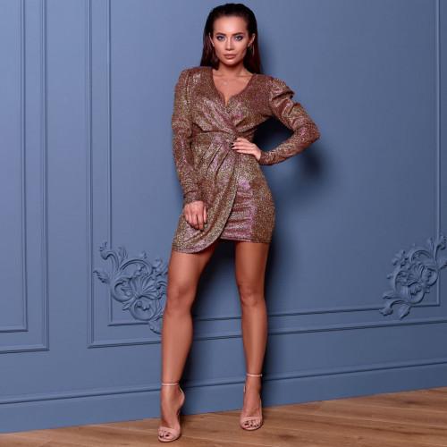 Платье с люрексом 11681