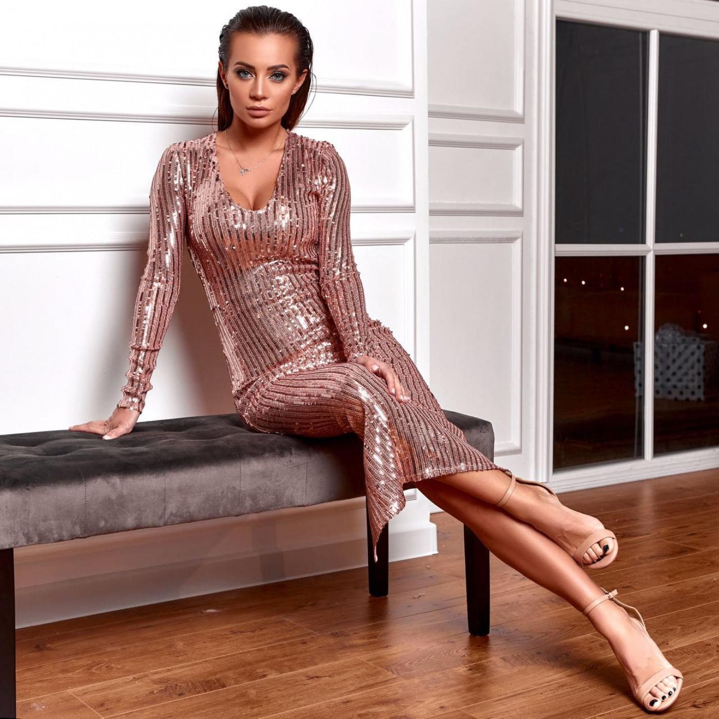 Стильне коктейльне плаття 11407