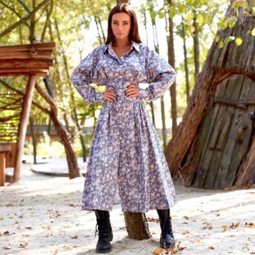 Платье-миди с цветочным принтом 11644