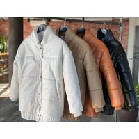 Куртка утепленная из экокожи 11656