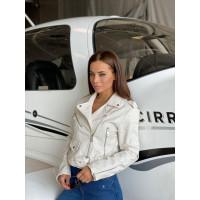 Кожаная куртка-косуха 590-0