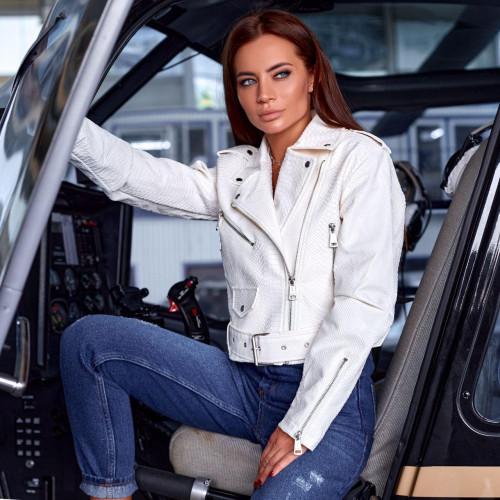 Кожаная куртка-косуха 591-0