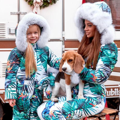 Зимний комбинезон с мехом песца Family Look 11440