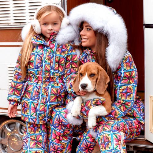 Зимний костюм куртка+комбинезон 11442