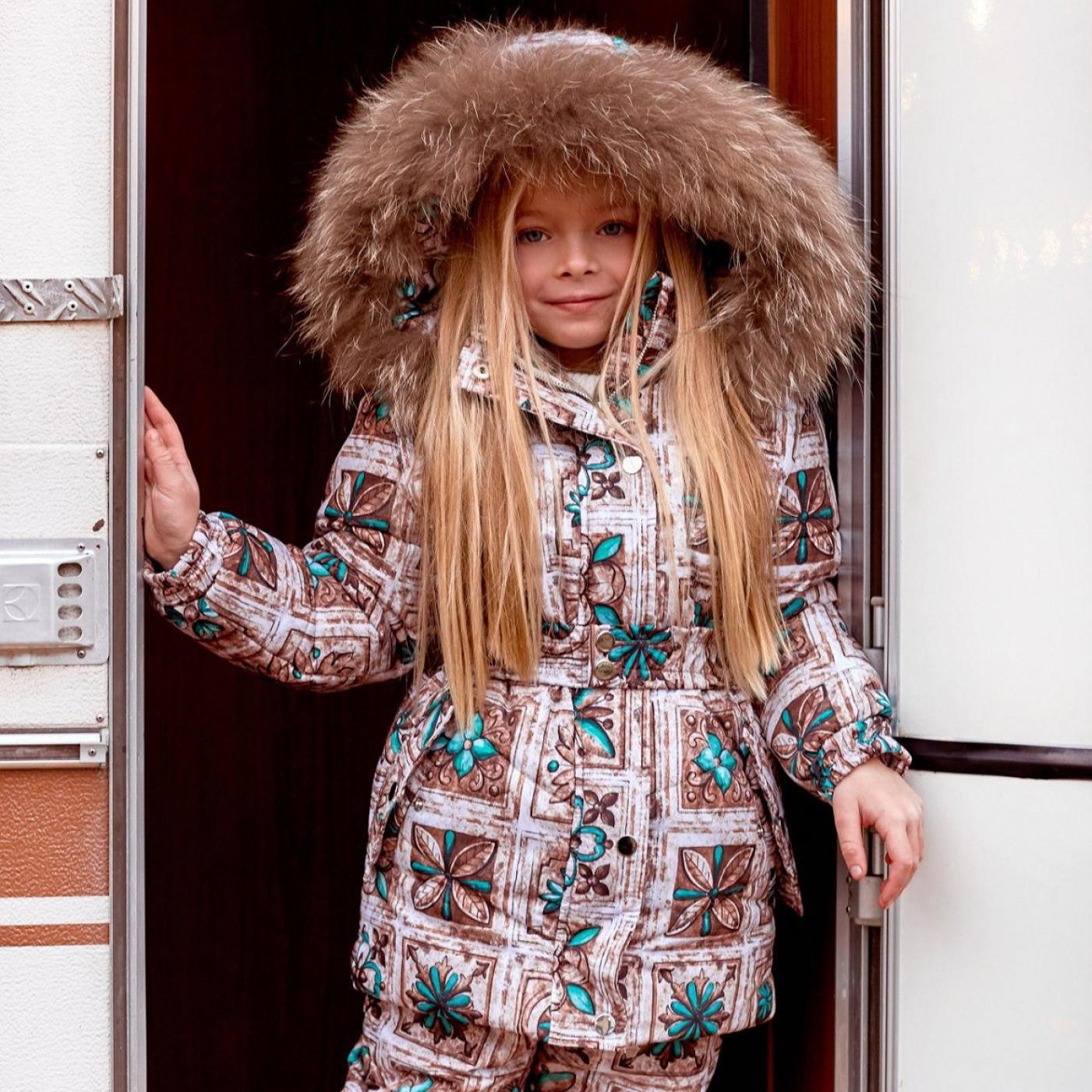 Дитячий зимовий костюм (комбінезон + куртка) 11443
