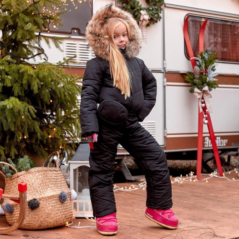 Зимний детский комбинезон с енотом Family Look 11445