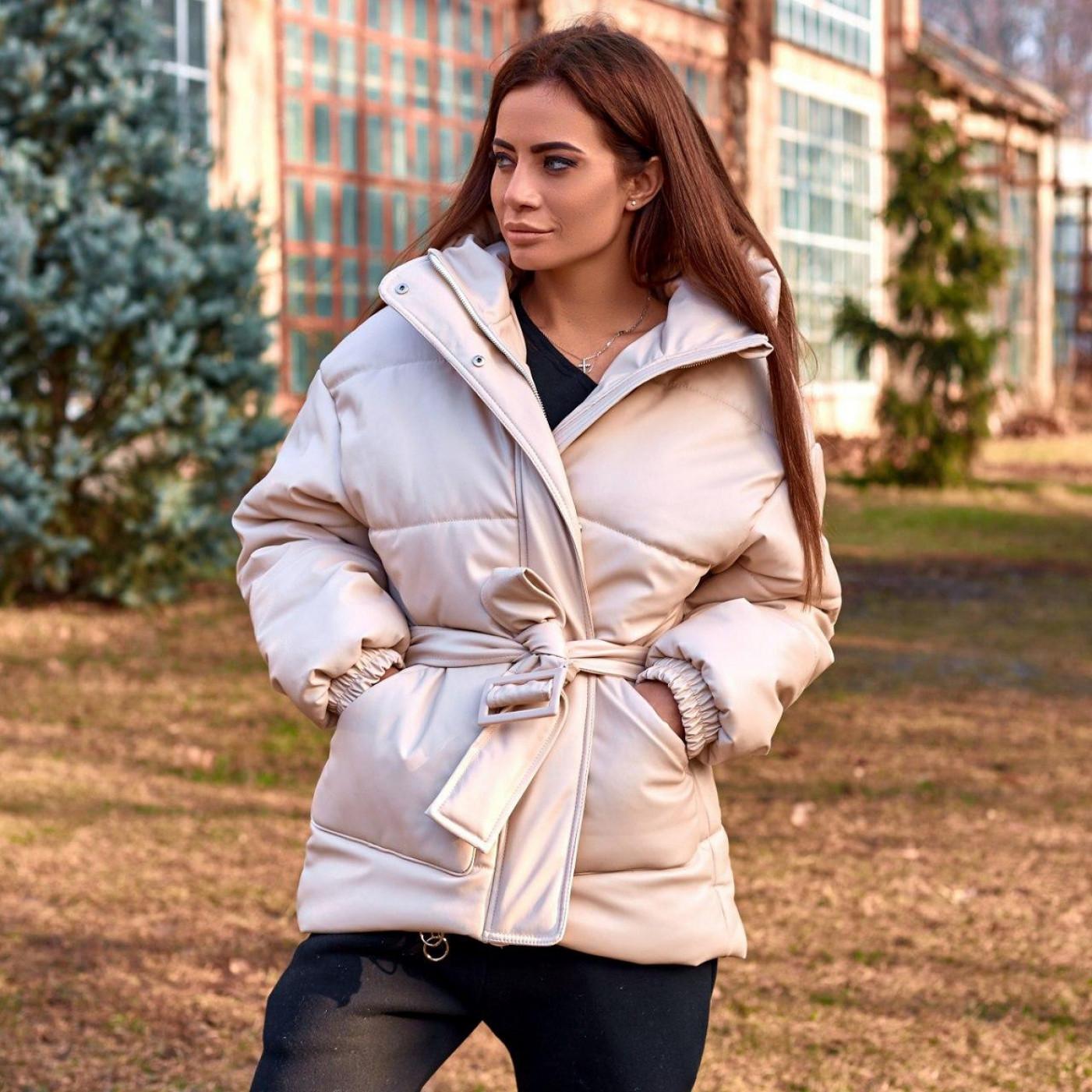 Куртка з екокожі 11457
