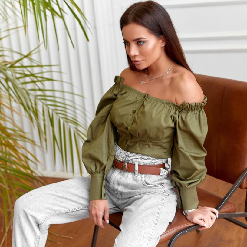 Блуза с открытыми плечами 11380-3