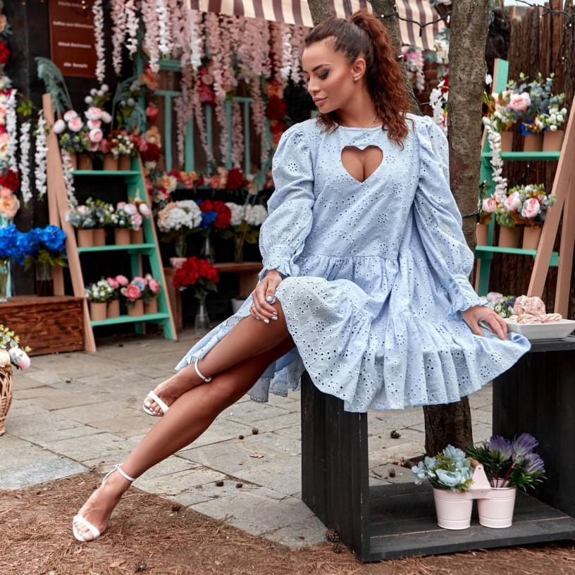 Сукня з прошви з ніжним вирізом 11776-2